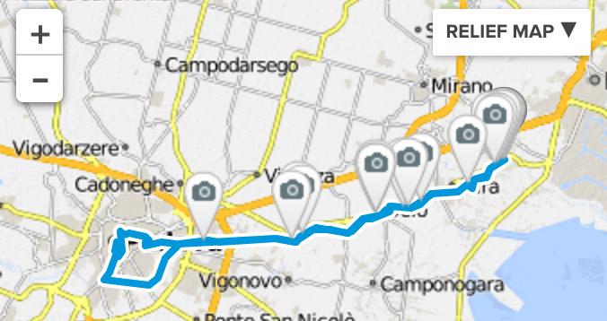 Mit dem Fahrrad in der Stadt - Padua