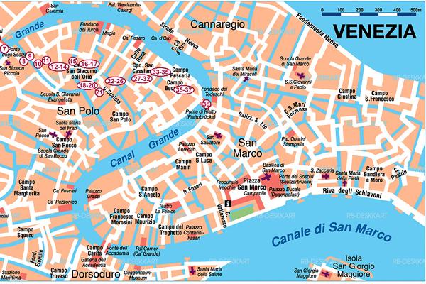 Acquisto biglietti trasporti venezia mappa